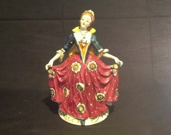 Vintage Victorian Lady Figurine made in occupied Japan