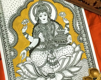 Hindu Goddess Lakshmi art print