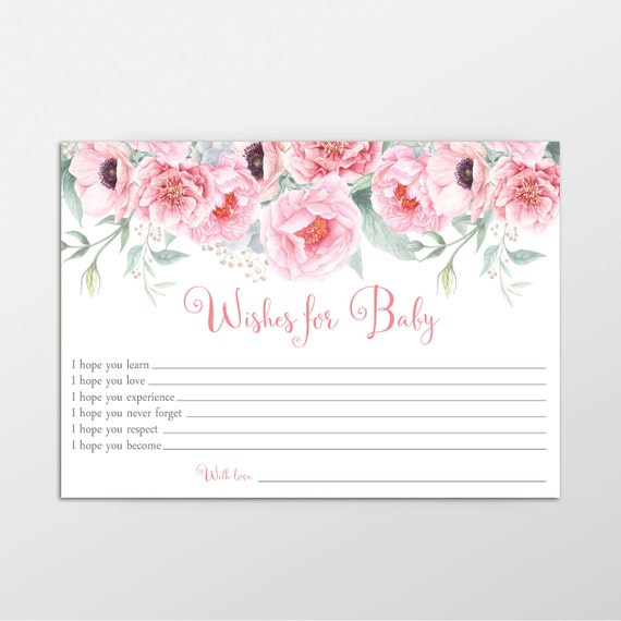 Wishes For Baby Baby Shower Game Printable Game Wishes For
