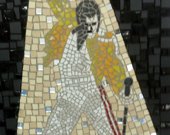 Freddy Mercury On Stage Mosaic