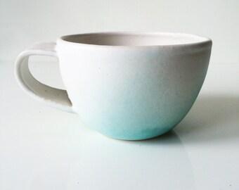 Aqua Ombre Ceramic Mug