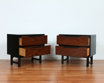 Stanley Mid Century Lacquered Nightstands