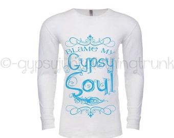 Gypsy Soul Thermal Long Sleeve  Shirt - Gypsy Soul Shirt - Gypsy Apparel - Boho Shirt - Gypsy Top - Gypsy Clothing - Boho Top