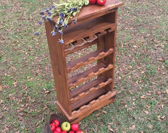 Vintage Standing Wine Rack / Wine Rack Cabinet