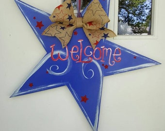 Welcome Star door hang