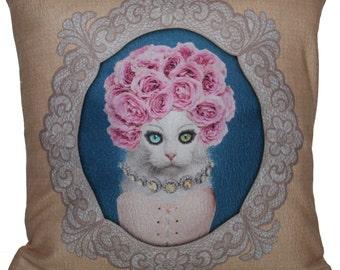 "Printed Cushion Cat 40x40cm (16 ""x 16"")"