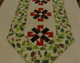 Deck The Halls Quilted Table Runner