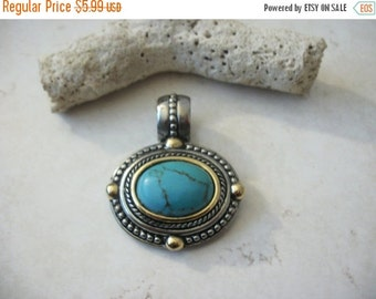 ON SALE Vintage 1960s Southwestern Pendant with Bail 91516