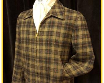 Incredible Vintage Pendleton Jacket ~ 100% Wool ~ Made in USA ~ Pendleton Woolen Mills