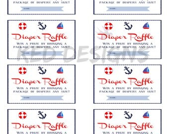 Printable-Diaper Raffle-Nautical-Anchor-Boats-Lifesaver-Blue-White-DIY-Red-Baby Shower-Theme-Boy-Girl-Prize-Diaper