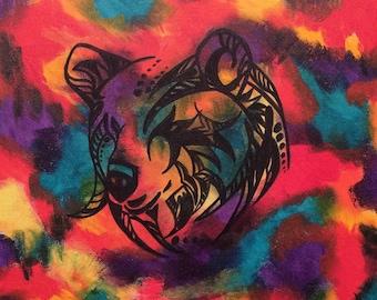 Original Bear Totem - Shaman - Bohemian - Boho - Canvas Painting 16x20