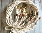 Natural Cotton - Traditional Dog Leash, Dog Lead, Rope Lead, Rope Leash, White Rope Leash, Handmade Rope Leash