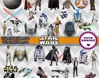 INSTAN DOWLOAD: Clipart Star Wars, Image Star Wars, clipart Star Wars 300 dpi, clipart Star Wars 72 dpi