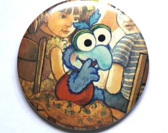 Baby Gonzo, Compact MIRROR, Pocket Mirror, Muppet Babies, Makeup mirror