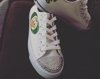 Blinged Oregon Ducks Converse