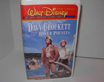Davy Crockett and the River Pirates ,VHS Tape ,Walt Disney, Free Shipping