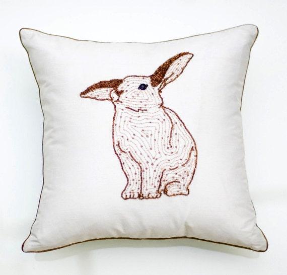 Rose Gold Decorative Pillow : Items similar to Rose Gold Decorative Pillows,Easter Bunny Pillow,Spring Pillows,Spring Decor ...