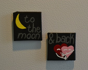 To The Moon and Back: Magnet Pair