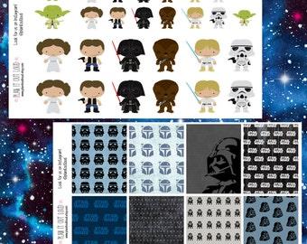 Star Wars Sticker Kit (planner stickers)