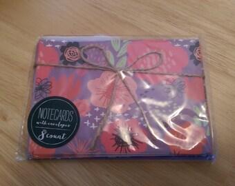 Target Purple Floral Notecards