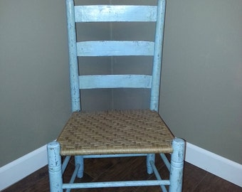 Ladder Back Chair - Vintage Ladder Back Chair - Shabby Chic Chair - Cottage Chic Chair - Childs Ladder back Chair - Nursery Decor - Shabby