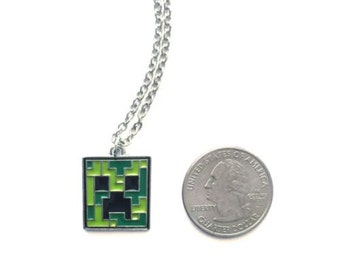 Minecraft Inspired Creeper Necklace