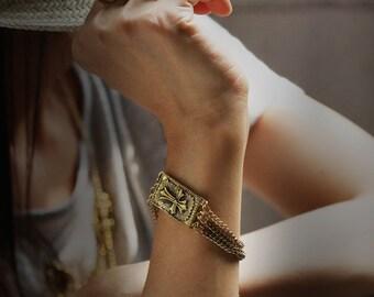 Big Cross Charm Bracelet by Defy - Jewelry Accessories Metal Works