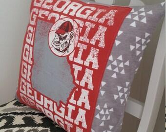 Georgia Bulldogs Pillow Cover