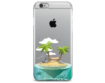 Iphone 7 clear case, clear iphone 6s case, clear iphone 6 case, clear iphone 5 case, clear iphone 6 plus case, clear plastic cases Island