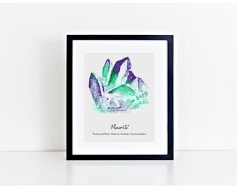 Fluorite wall art, printable, chakra prints, gemstone wall art, Fluorite wall decor, gem print, jewel print, wall decor, birthstone print