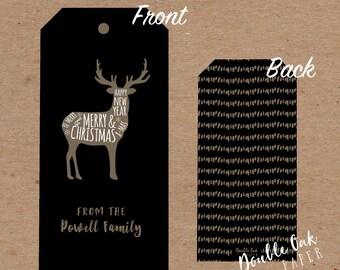 Merry Christmas Deer Gift Tag