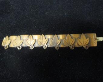 Vintage Rebaje leaf link bracelet