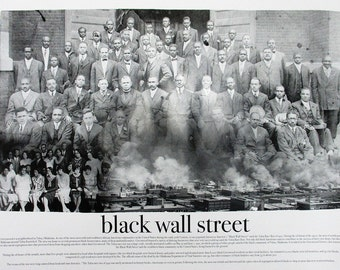 Black Wall Street Poster African American Black History (18x24)