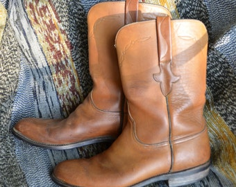 Lucchese Vintage Men's Leather Roper Boots sz.9.5 D