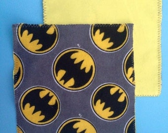 Batman Flannel Wipes - Set of 6