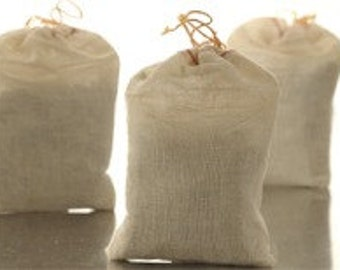 Large All Natural Air Freshner in 4 x 6  Muslim Bag with 3oz Cellulose Corn Cob Fibers made with Essential Oils