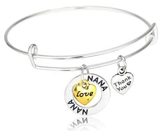 Nana Bracelet- Nana Jewelry - Nana Bangle- Perfect Nana's Gift, Mother's Day or Just Because!!!