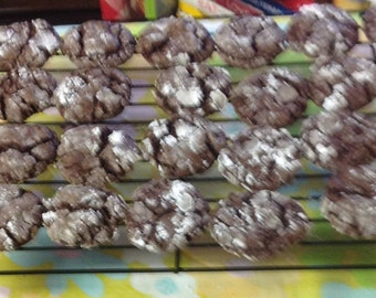 Chocolate Crinkle Cookies - Homemade, 1 Dozen