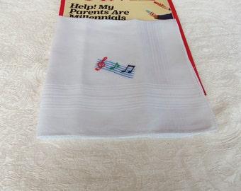 Mens Music Note Handkerchief