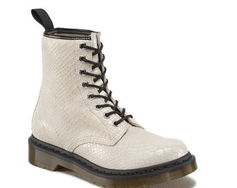 White Dr. Martens Boots, US Women's size 7, UK Size 5