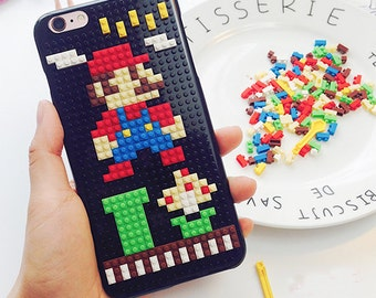 DIY lego phone case kit/DIY lego mario phone case kit/DIY lego gameboy phonecase kit