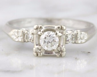 Catherine Retro Diamond Engagement RIng