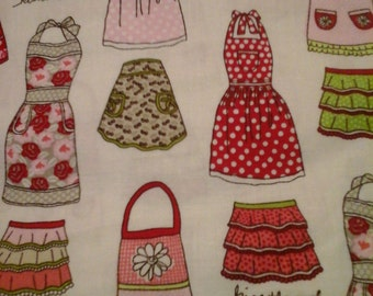 2 Yards Apron Fabric Kitchen Themed 100% Cotton