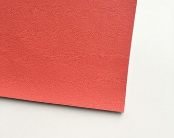 Coral Vegan Faux Leather, Vinyl, Leatherette, Coral Pink, Vegan Leather, Hair Bow, Fake Leather, Faux Leather Sheet, Pink Faux Leather