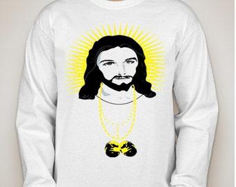 White Jesus with Biggie Piece (Long Sleeve)