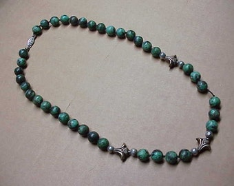 Genuine Turquoise vintage beaded necklace #152