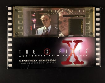 X-Files Deep Throat 35 mm Film Cel, in Original Box, X-Files TV Series 1990s, One of a Kind Limited Edition