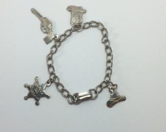 Wild West Cowboy Charm Bracelet 9451