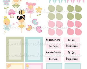 fairy planner stickers - happy planner stickers - planner stickers - planner sticker - functional sticker - weekly sticker - daily - fairy