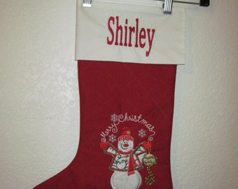 Personalized Custom Quilted Christmas Stocking